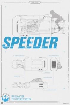 maxi-poster-star-wars-rey-s-speeder-580x872