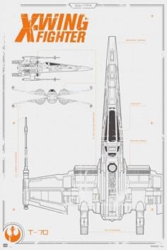 maxi-poster-star-wars-x-wing-580x869