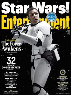 "In the trailer we hear and see his questioning. It's awesome to see that just because you're a stormtrooper, doesn't mean you fully believe in the cause. ""It's about looking for a greater purpose, rather than thinking, 'This is the only thing I can do,'"" Boyega says of his runaway stormtrooper. ""He wants to change. He wants to make a difference. He's trying to find some kind of moral dignity in this war."""