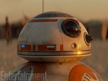 """BB-8's lenses, aerials and panels went through more facial arrangements than a Beverly Hills housewife. """"You could move one component and the face would start to have a slight sad look about it or slightly aggressive,"""" says Neal Scanlan, the head of The Force Awakens creature shop. """"You want them to be able to talk to you before they move. And if they can do that, then the movement adds extra [characterization] on top."""""""