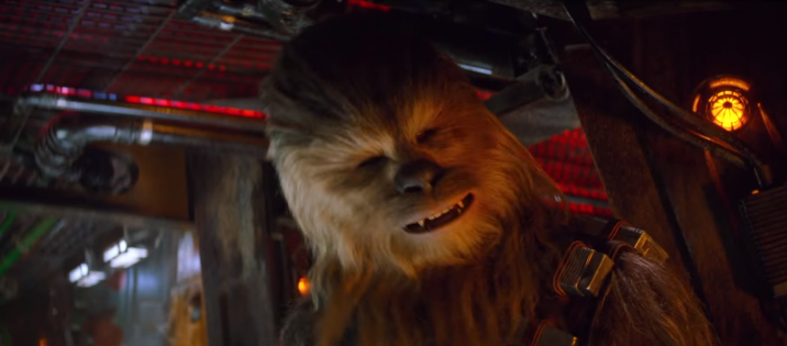 Chewie is bout to blow stuff up.