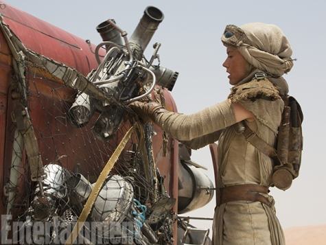 "It's a lonely existence scrounging for sustenance on a junkyard planet. Rey was ditched on Jakku by her family when she was a child and has no idea why — or why they never returned. ""She's been alone for a long time,"" Ridley says. ""When something occurs when you're 5, you know what went on but you don't understand the reasoning. She's hopeful for what lies ahead, whether that involves the past or not."" So why hasn't abandonment made her bitter, angry, and… prone to the Dark Side? ""Hope makes people good, a lot of the time,"" Ridley says. ""You hope for a brighter future, and resentment is outweighed."""