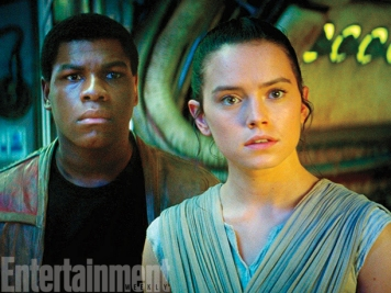 """Rey was conceived as a female protagonist from the get-go, but both she and Finn were written without any specifications to race. Then the filmmakers went searching for actors with a mind toward opening up the galaxy to new faces. Boyega says young Star Wars fans see heroes, not color. """"They're not talking about race the way we grown folks are. They're not talking about how much melanin is in someone's skin. That should teach us something. We've been having a continuous struggle with idiots, and now we should just force them to understand — this is the new world. There are loads of people of different shades and backgrounds. Get used to it."""""""