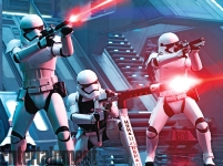 Here they are, laying down some blaster fire against the Resistance as they invade the Starkiller base.
