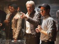 Awesome shot of JJ himself directing Han Solo.
