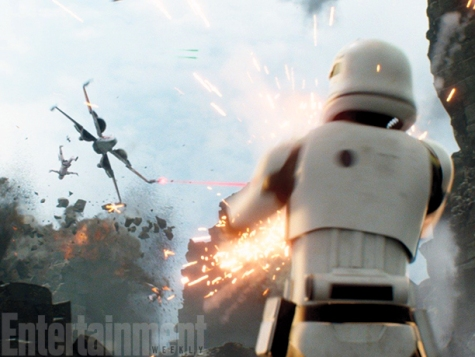 """We had women in stormtrooper costumes in the movie,"" Abrams says, so audiences will be seeing a mixed gender fighting force from The First Order whether they realize it or not. (The armor isn't form-fitting, of course.) And since it's armor, it doesnt really need to be but it's awesome to see!"